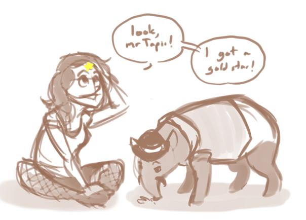 Tapir and Gold Star